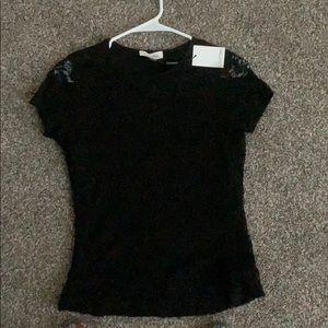 Calvin Klein black lace top